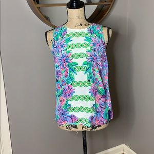 Lilly Pulitzer Iona Silk tank top, size S